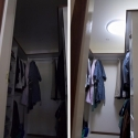 before and after instalation sky tunnel