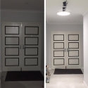 before and after white door